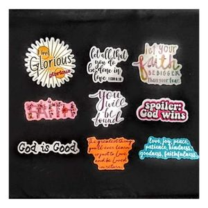 Set of 9 Waterproof Religious Stickers Ships Free